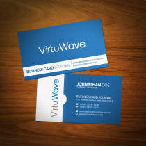 VirtuWave Business Card Mockup