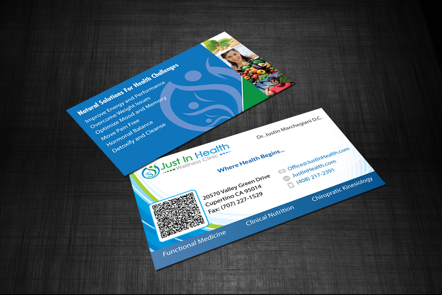 Real versatile technologies justinhealth business card mockup presentation v4 second colourmoves