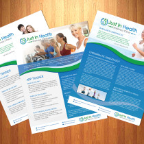 Justinhealth Multiple Brochure Designs